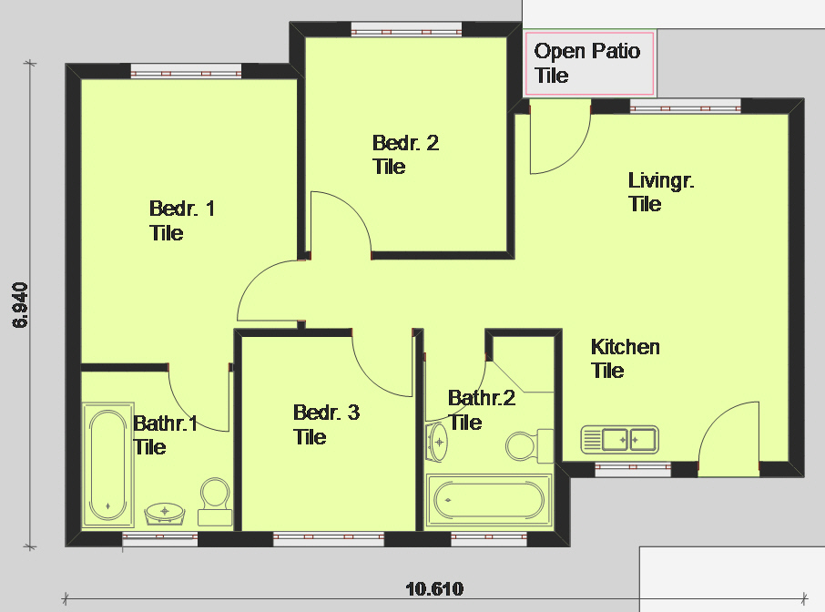 Free house plans designs sa for Free floor plan builder