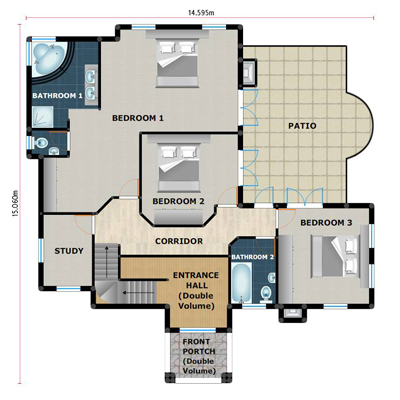 PL0025B 3 - 28+ 3 Bedroom Modern House Plans Pdf Pics
