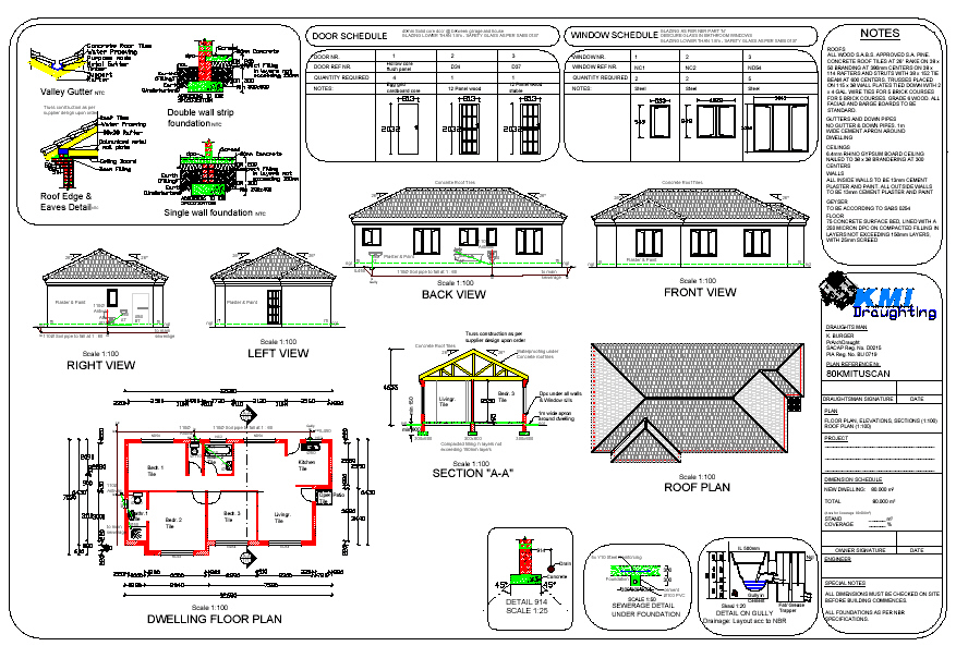 House plans building plans and free house plans floor for Complete set of architectural drawings pdf