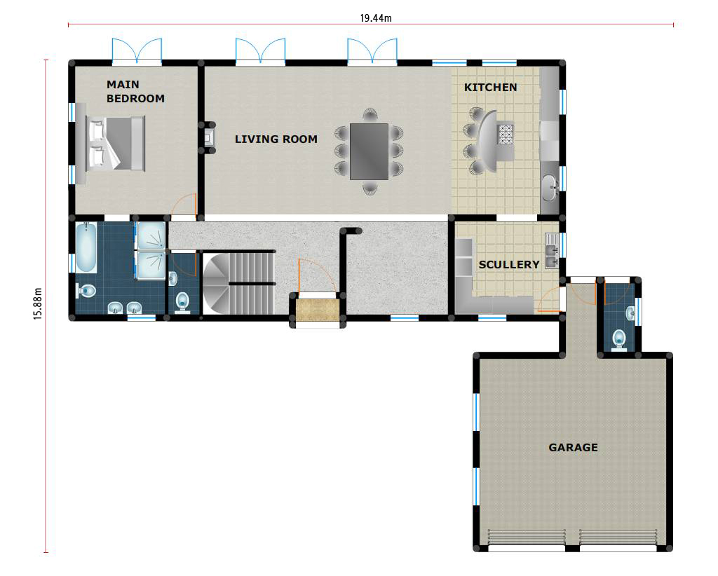 House plans building plans and free house plans floor for Beach house designs sa