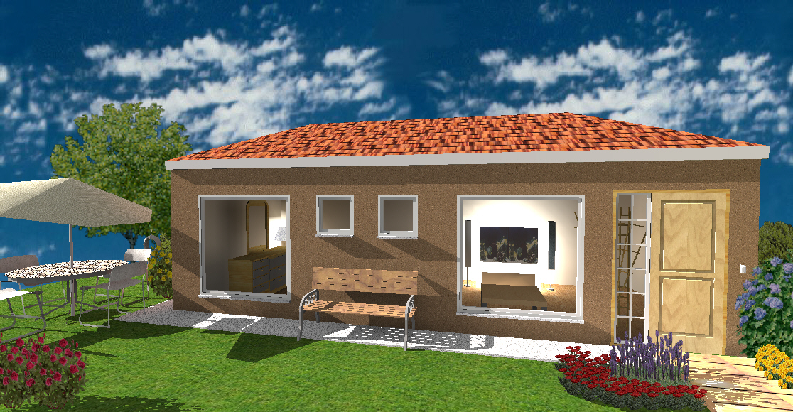 Cost of building a 2 bedroom granny flat in south africa for House plans with granny flats